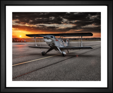 vintage airplane on tarmac EFX Gallery photographer Frank Winkler