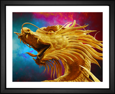 Head of a golden dragon thailand Phuket, Thailand  Golden Dragon by EFX Gallery color changing print by Photographer Josch13 Phuket, Thailand