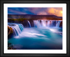 Godafoss Waterfall in northern Iceland by EFX Gallery color changing giclee