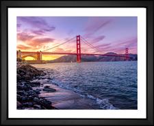 Golden Gate Bridge EFX Gallery color changing fine art print San Francisco, CA