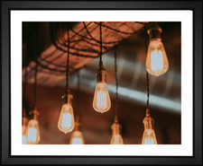 Industrial color changing lightbulbs by EFX Gallery photographer Brennan Burling