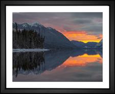Glacier National Park at Sunset