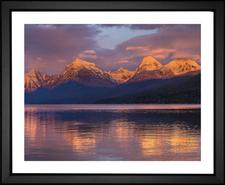 Mountain Range in Glacier National Park