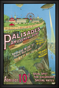 Palisades vintage poster with special EFX color change technology