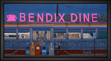 EFX Gallery presents the Bendix Diner by renown artist Mark Oberndorf fine art print with color change technology