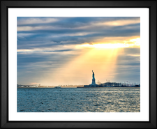 Sunrays on the Statue of Liberty
