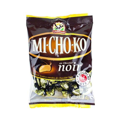 La Pie qui Chante Michoko French candy dark chocolate and caramel 100 g (3.5 oz)