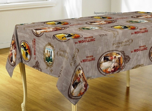 French Tablecloth Champagne
