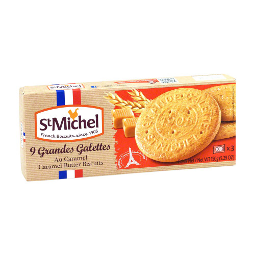 St Michel Large Caramel French Butter Cookies 5.29oz (150g)