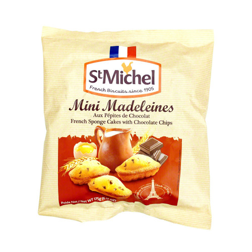 St Michel French Mini Madeleine With Chocolate Chips 175g (6.17oz)