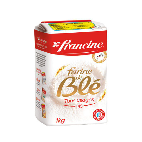 Francine French Flour  Wheat All Purpose T45 2.2 lb (1kg)