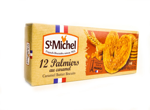 St Michel Caramel Palmier French Butter Cookies 100g (3.52 oz)