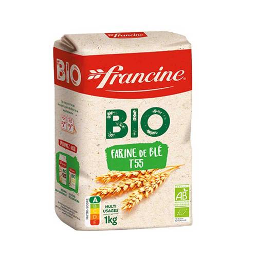 Francine French Bio Organic Wheat Flour T55  1kg/2.2lb