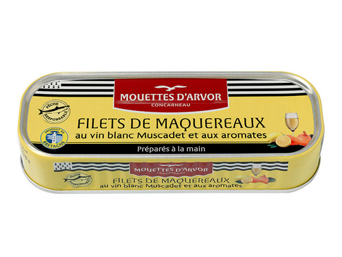 Les Mouettes d'Arvor French Mackerel Fillets With White Wine Muscadet 176 g (6,3 oz)