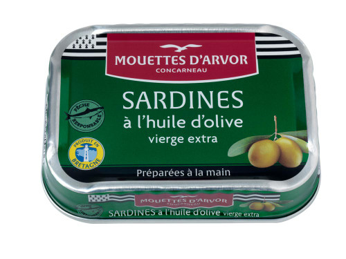 Les Mouettes d'Arvor French Whole Sardines With Olive Oil 115g/4.1 oz