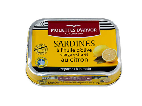 Les Mouettes d'Arvor French Sardines Whole With Lemon and Olive Oil 115g (4.1 oz)