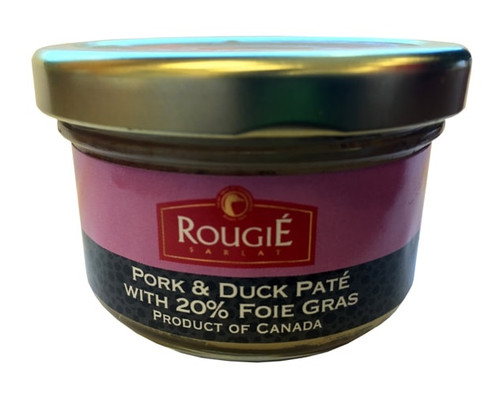 Rougie Pork and Duck Terrine with 20% Foie Gras 80g /2.80 oz