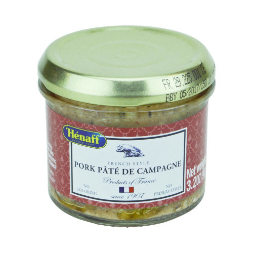Henaff French Countryside Pork Pate glass jar 90g (3.2 oz)