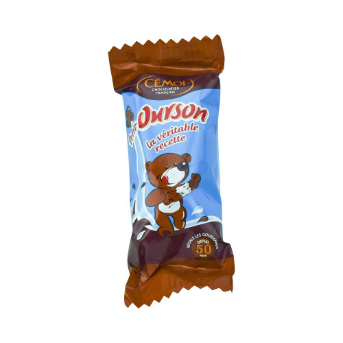Cemoi French Chocolate Covered Marshmallow Bear by the Unit 12.7 g (0.45 oz)