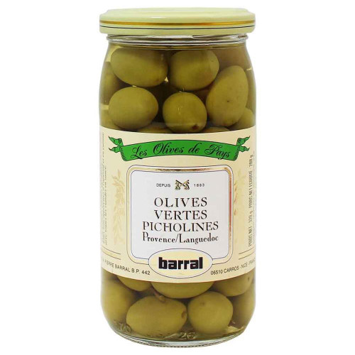 Barral French Green Olives Picholines 200g/7oz