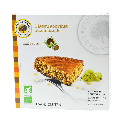 Biscuiterie de Provence French Organic almond and Hazelnut cake, gluten free 225g (7.9 oz)