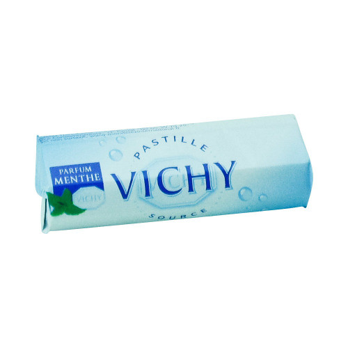 Vichy French Mint pastilles in a Roll 0.8 oz (25 g)