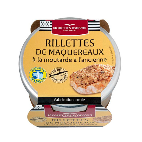 Les Mouettes d'Arvor French Mackerel Rillettes with Grain Mustard 125 g (4.4 oz)