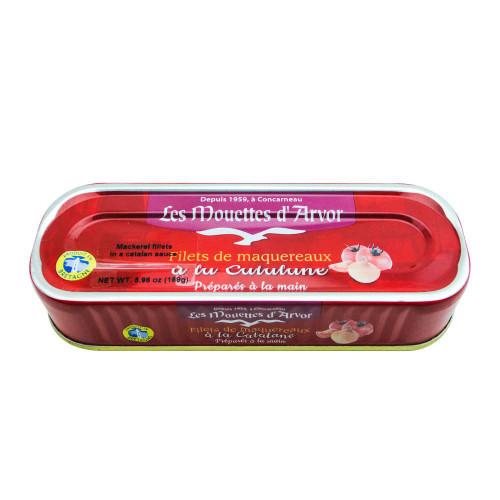 Les Mouettes d'Arvor French Mackerel fillets in Catalane sauce 169 g (6 oz)
