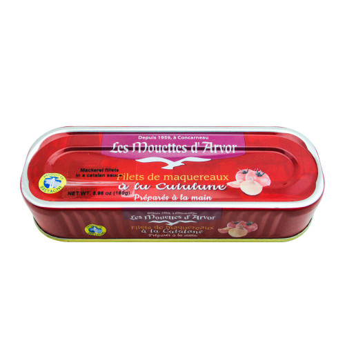 Les Mouettes d'Arvor French Mackerel fillets in Catalane sauce 169 g (6 oz)