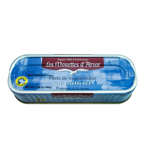 Les Mouettes d'Arvor French Mackerel fillets au Naturel 169 g (6 oz)