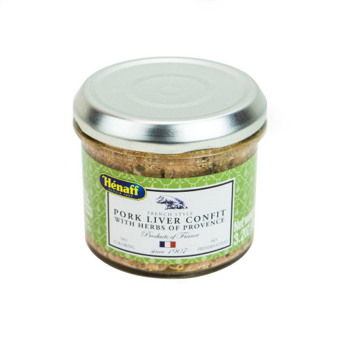 Henaff French Pork Liver Confit with herbs of Provence Glass jar 90 g (3,2 oz)