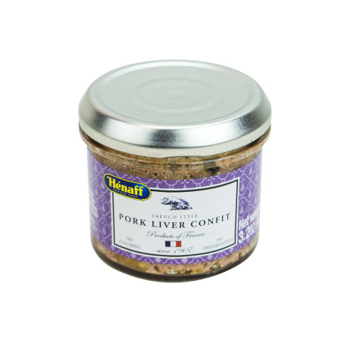 Henaff French Pork Liver Confit Glass jar 90 g (3,2 oz)