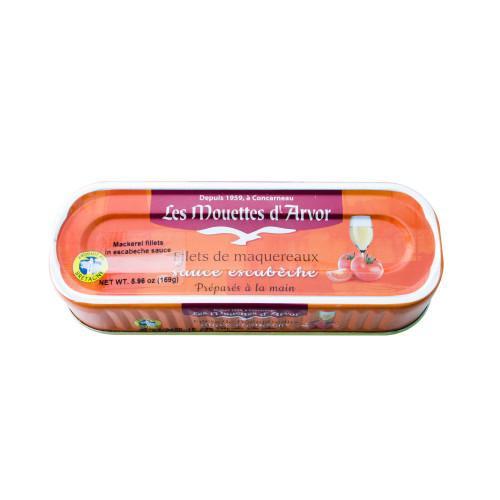 Les Mouettes d'Arvor French Mackerel fillets Escabeche Sauce 169 g (6 oz)