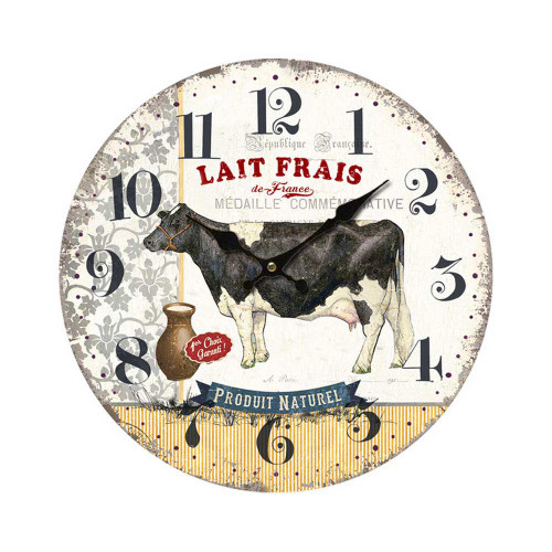 Clock Fresh Milk 11 inch