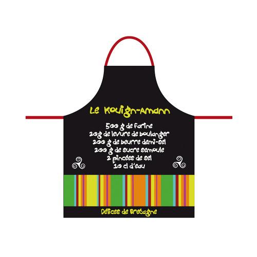Apron Adult Black Recipe Kouign-Amann