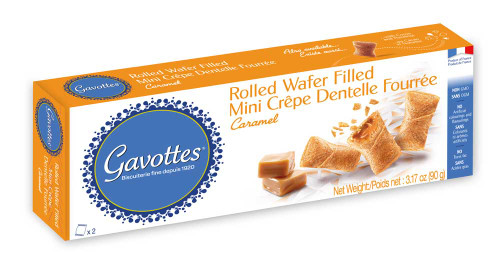 Gavottes Mini Crepes Filled with Salted butter caramel 3.17 oz (90g)