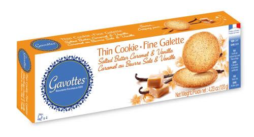 Gavottes thin Cookies salted Caramel & Vanilla 4.23oz (120g)