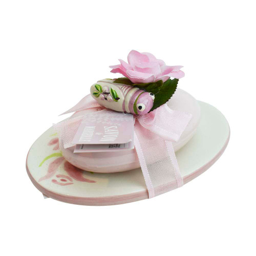 Soap Marseille and Oval Soap Holder Rose Scent