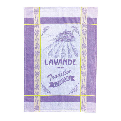 "Clara en Provence Kitchen Towel Lavender 20x 27"" 100% Cotton"