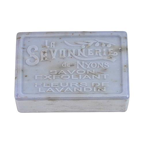 La Savonnerie de Nyons Exfoliating Soap Lavender Flowers 3.53 oz