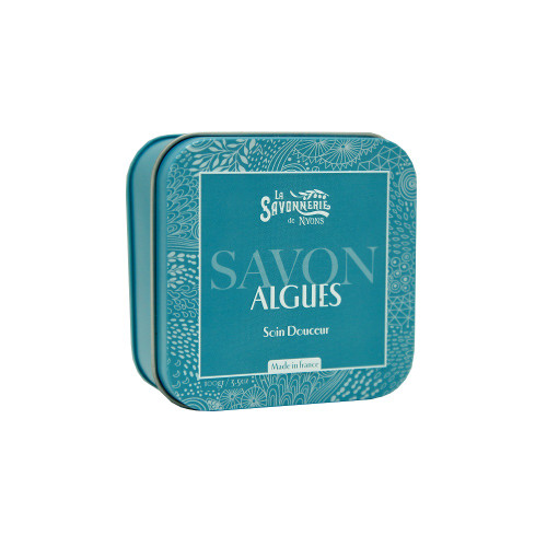 La Savonnerie de Nyons Metal Box Soap Algae 3.5 oz