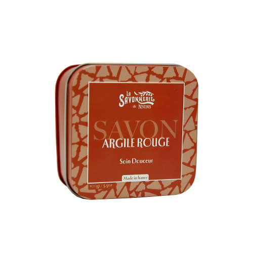La Savonnerie de Nyons Metal Box Soap Red Clay 3.5 oz