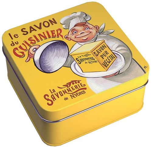 La Savonnerie de Nyons Cook's Soap Illustrated Metal Box 3.52oz