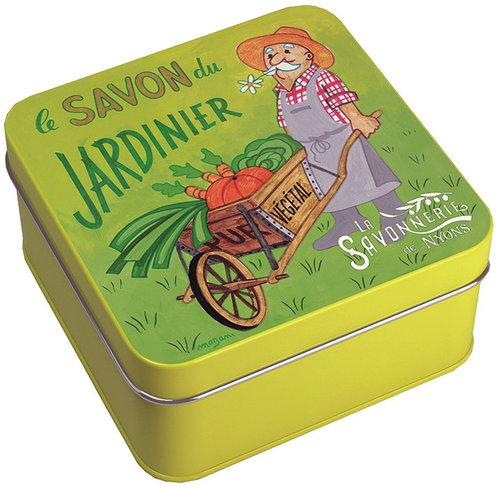 La Savonnerie de Nyons Gardener's Soap Illustrated Metal Box 3.52oz
