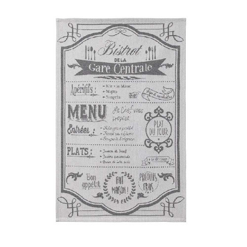 "Coucke Kitchen Towel Au Menu 20""x30"""
