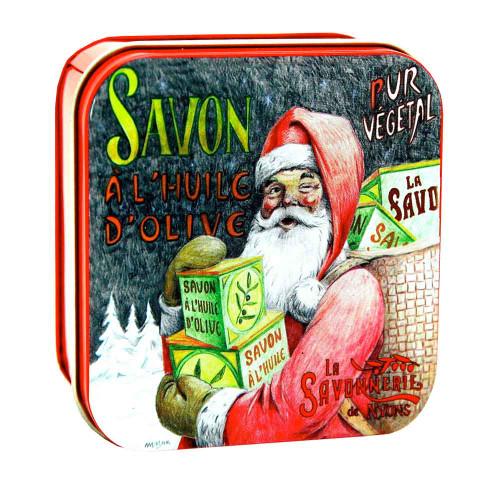 La Savonnerie de Nyons Soap Metal Box Santa Claus 3.52 oz