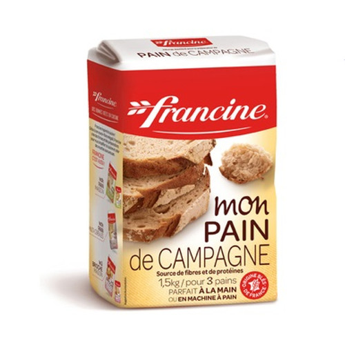 Francine Flour Country Bread 1.5 kg (3.30 Lb) 3 loaves