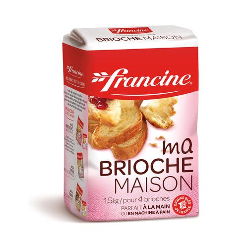 Francine Flour for Brioche 1.5kg ( 3.30 Lb) 4 Brioches