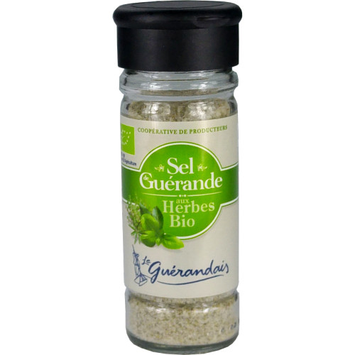 Le Guerandais Fine Salt with Organic Herbs Shaker 85g /2.99 oz