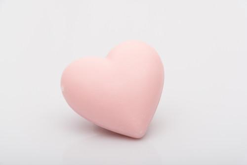 La Savonnerie de Nyons Heart Soap 25 g Pink Rose scented